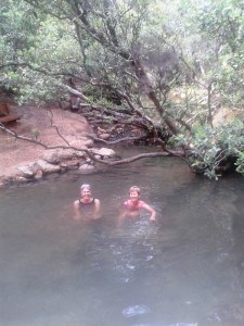 Soaking in the Kaitoke Hot Springs - bliss!