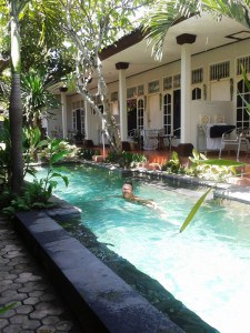 The pool at Little Pond in Sanur.