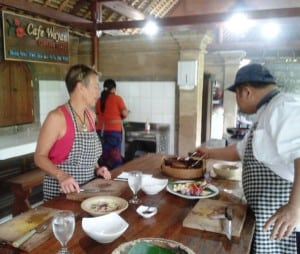 Our cooking class.