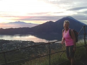 Sunrise at the top of Mt Batur.