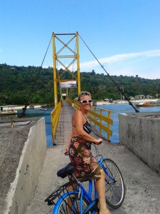 Cycling on Nusa Lembongan.