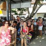 Waiting at Sanur for the boat to Nusa Lembongan.